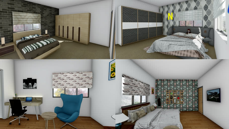 Modern Interior Design Bedrooms 3d Warehouse