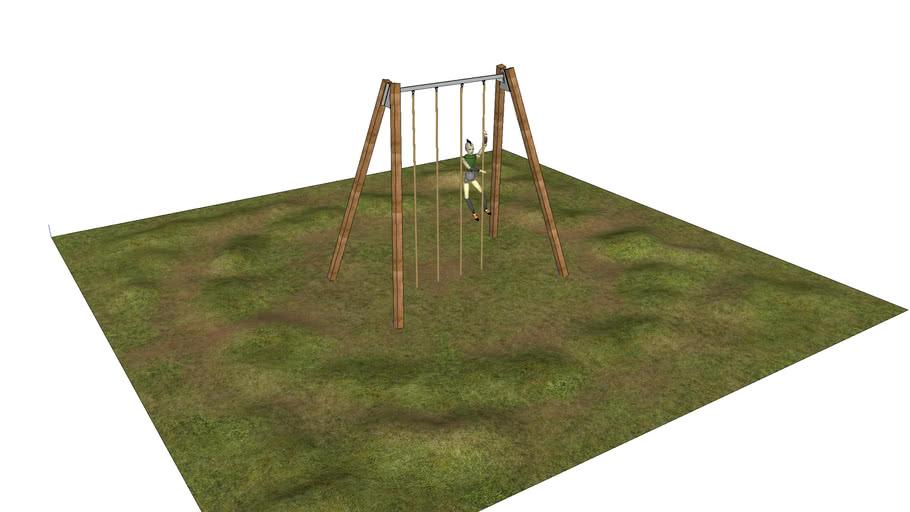 Backyard 4 rope Climb Obstacle