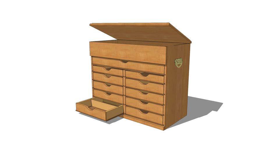 Tool Chest - 11 Drawer with hinged top