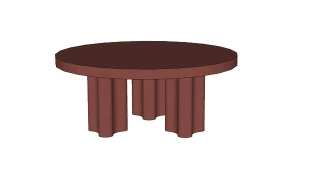 François Bauchet Azo Table Red