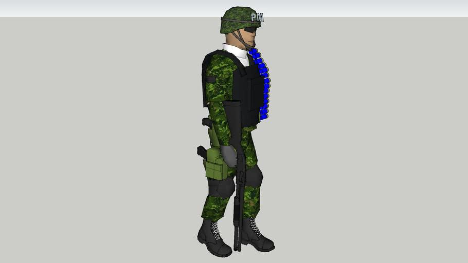 soldado de la policia militar de la sedena de mexico
