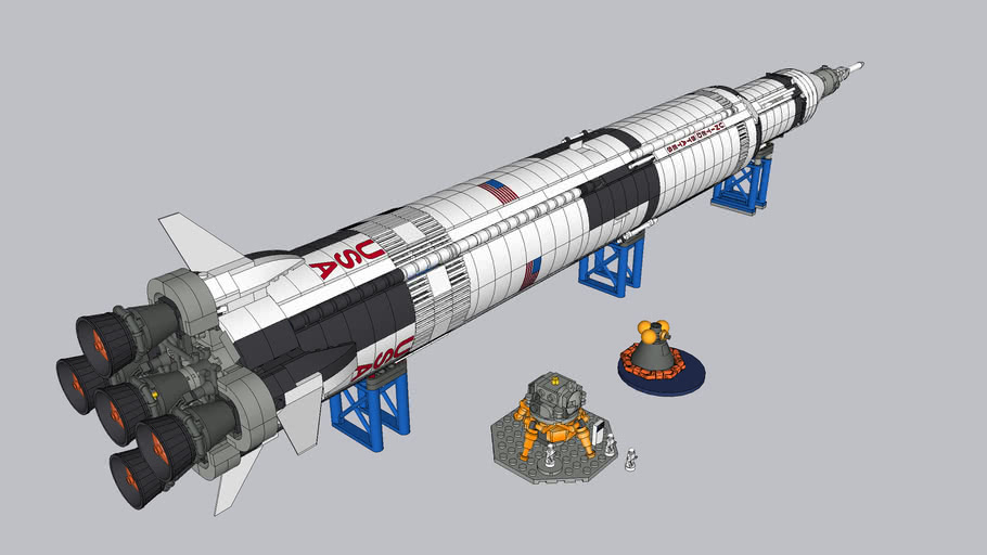 LEGO Saturn V model (21309)