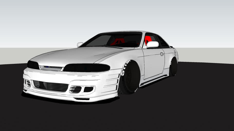 Nissan S14 with interior