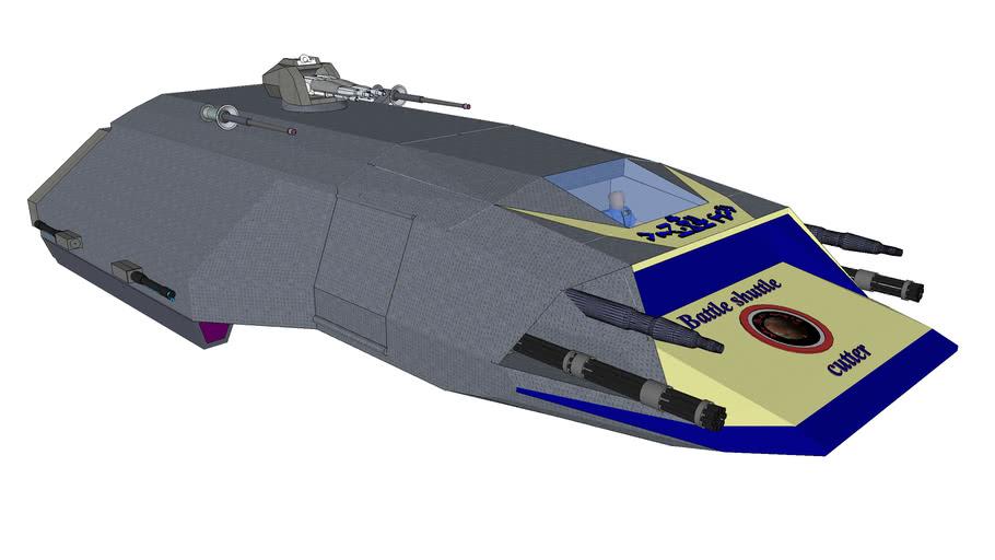 SQ272 Pegasus-C - Space battle shuttle class
