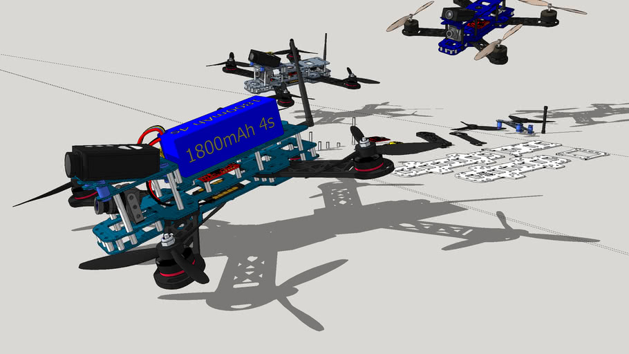 Racing quad for cnc, 1,5mm & 4mm arms
