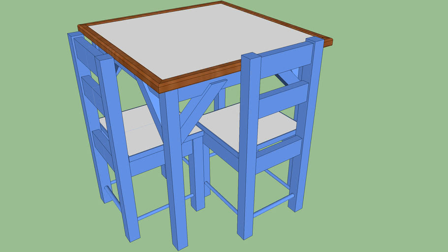 Child S Table And Chairs 3d Warehouse