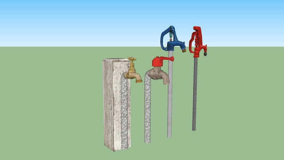 Outdoor tap set