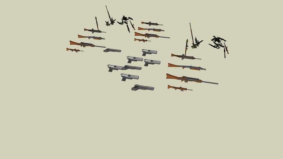 a gianttttttttt  arsenal of guns