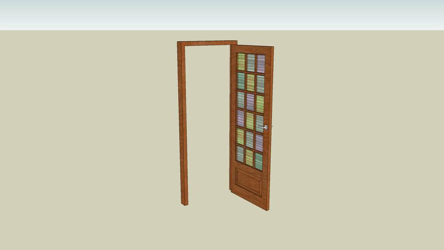 Porte vitrée simple