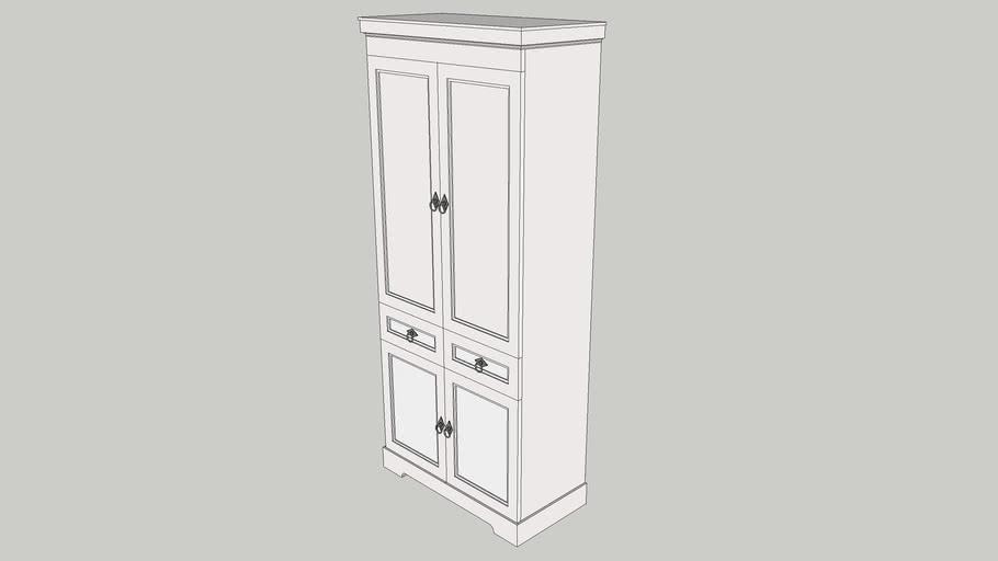 Simple antique cupboard (wardrobe)