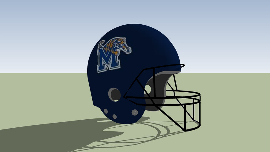 Memphis Tigers football helmet