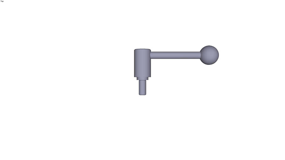 Indexing tension lever external thread...0° - size 2 M12  threaded rod length 25 mm