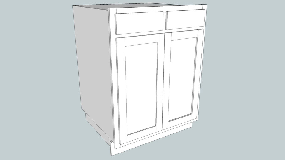 2 Door 2 Drawer Base