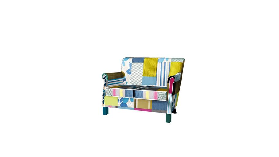 83149 Sofa Patchwork Stripes 2-Seater