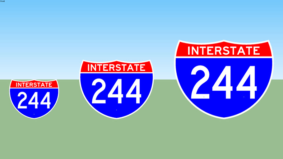 Interstate 244 Sign