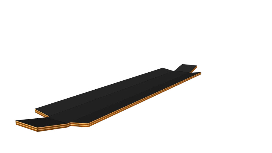 Wedged longboard