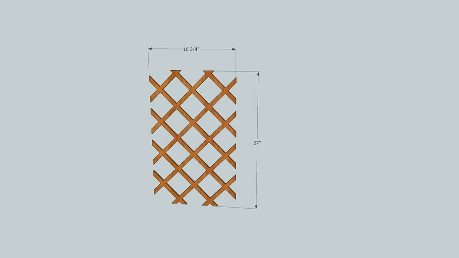 Wine rack lattice