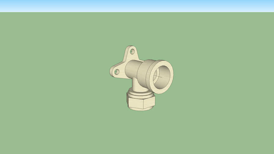 wall mounted water elbow