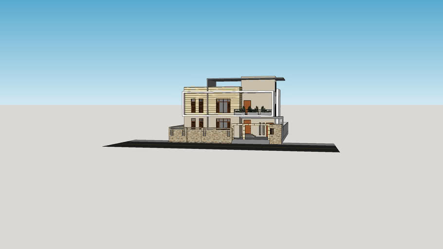 500 sq yd house elevation