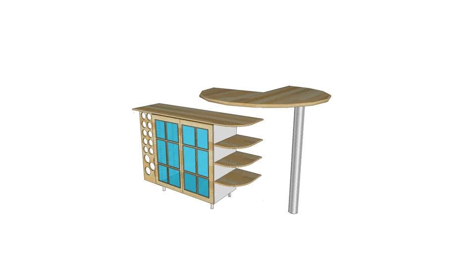 bar et meuble vitrine