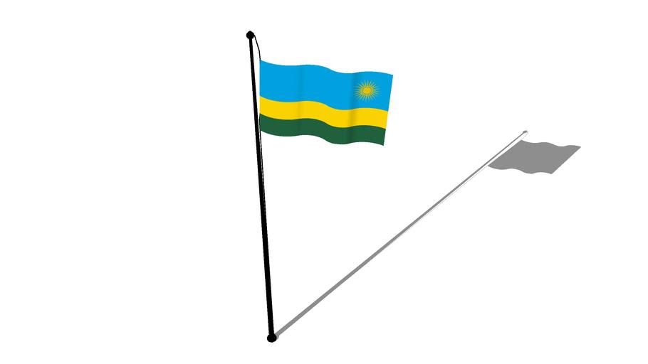Flag of Rwanda - Drapeau du Rwanda - Bendera ya Rwanda