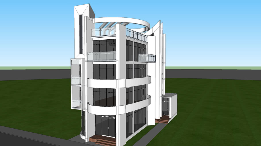 Small Office Building From 2008 3d Warehouse