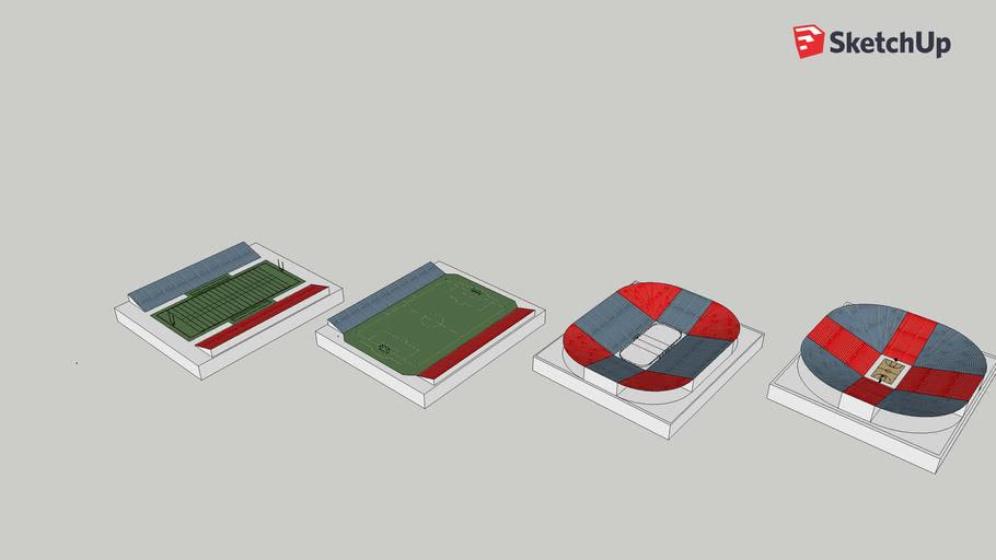 Sporting events platform designs for the World Trade Center Plaza.