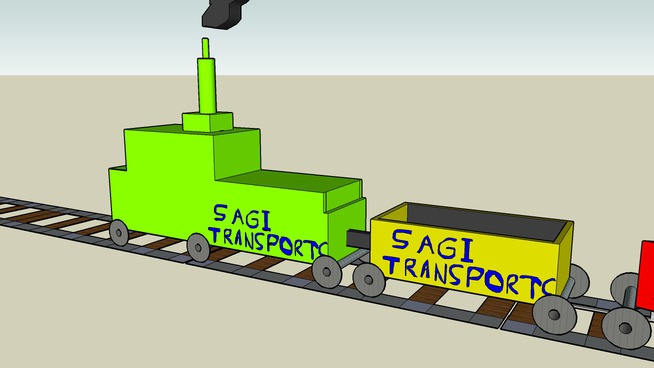 Unfinished toy train
