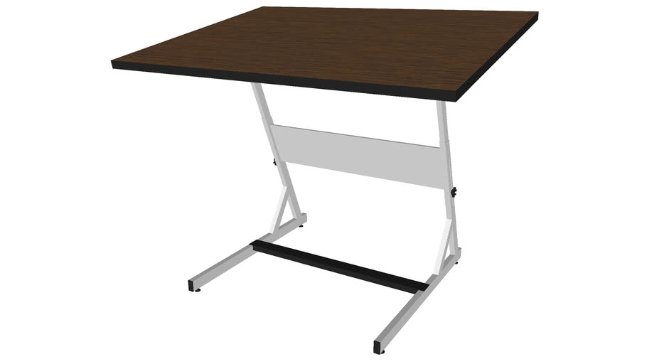 Small Drafting Desk - Detailed