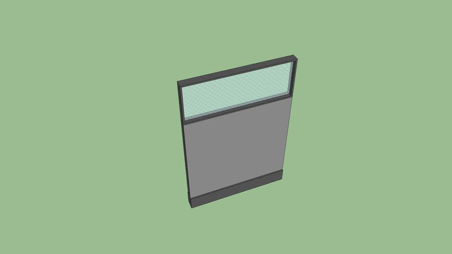 36X53 Panel with Glass AO2