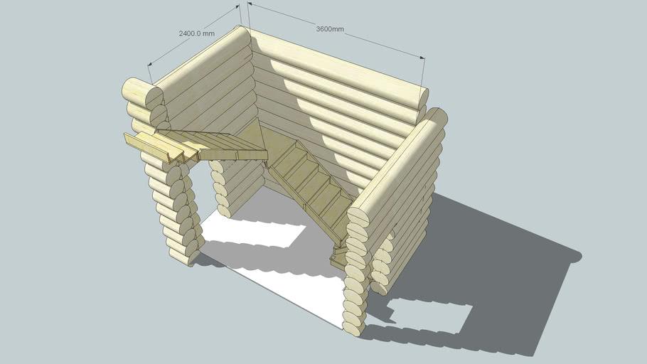 Лесница на 2 этаж в деревянном доме
