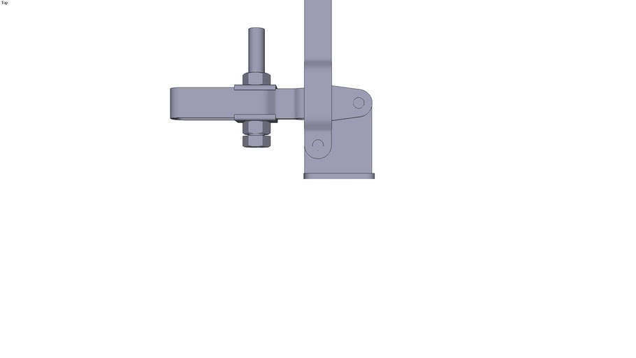 Vertical toggle clamp - M12x80