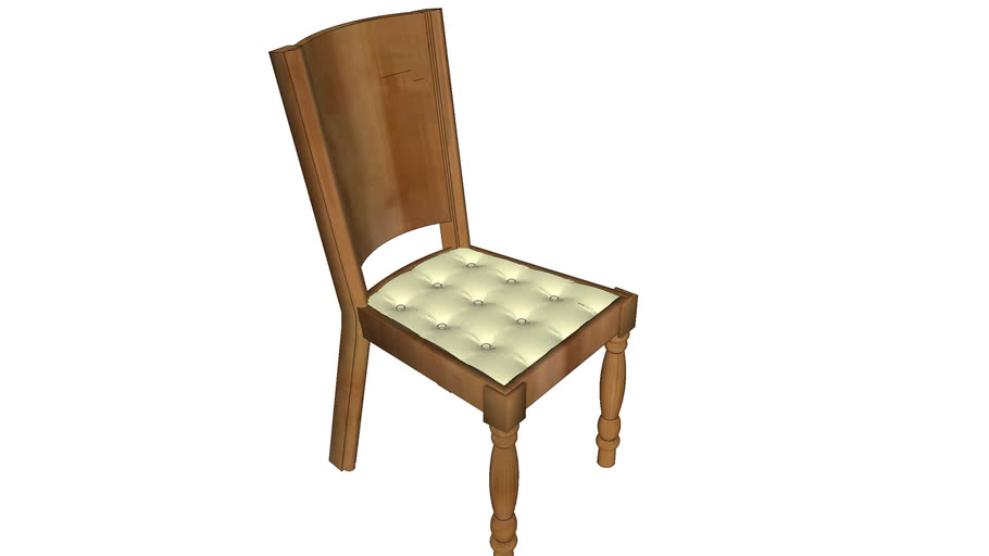 CHAIR WOOD LEATHER