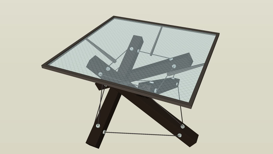 4D glass table
