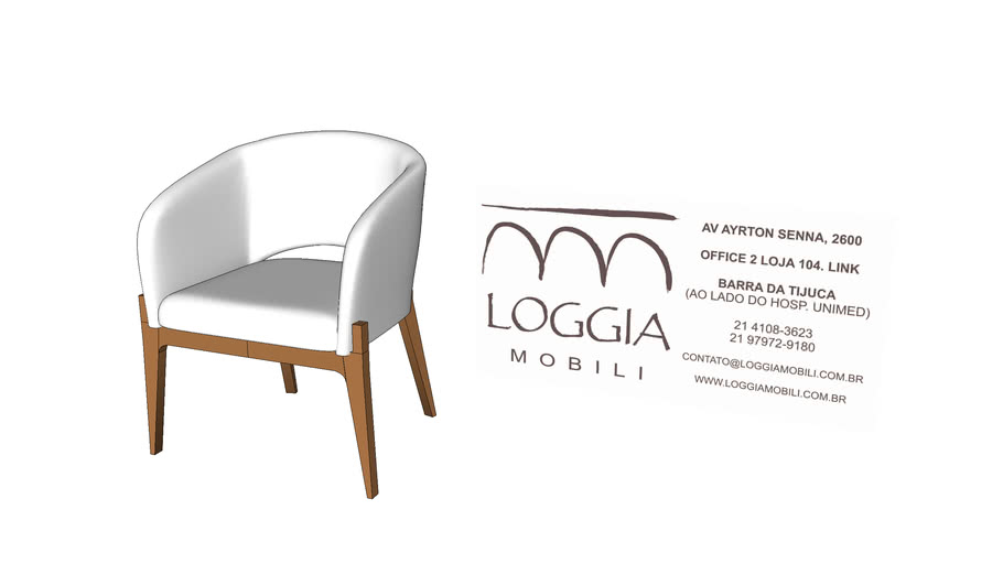 Cadeira Celine com Braço TM Loggia Mobili