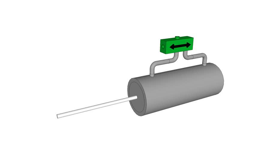 steam piston model