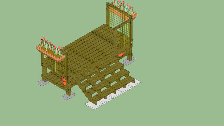 4x10 Stand-alone Deck w Steps