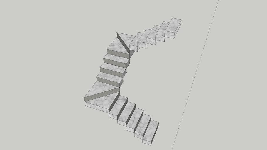Escada em U/ Leque