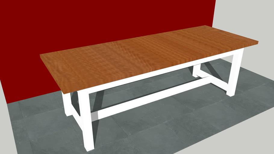 Farm Style Dining Table 3d Warehouse