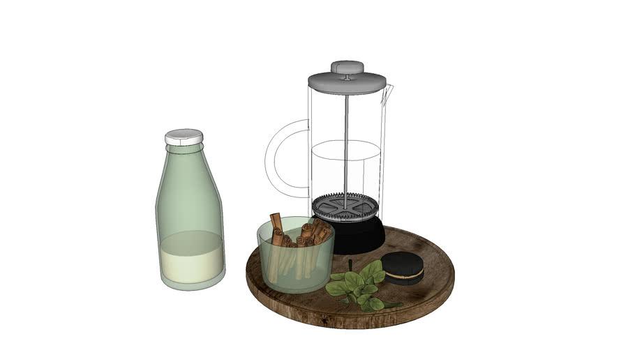 Cafeteira Francesa, Canela e Leite