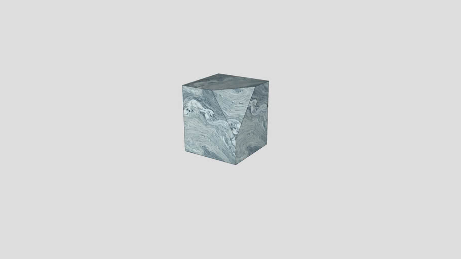 Stool in Cipollino marble | Salvatori | Ikona 40x40xH45 cm