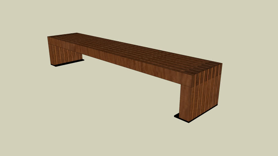 Forms+Surfaces® Hudson™ Bench, 8 foot, surface mount
