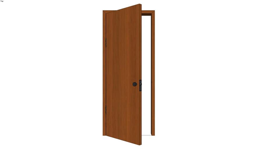 Door with Jamb Left Reverse - Detailed