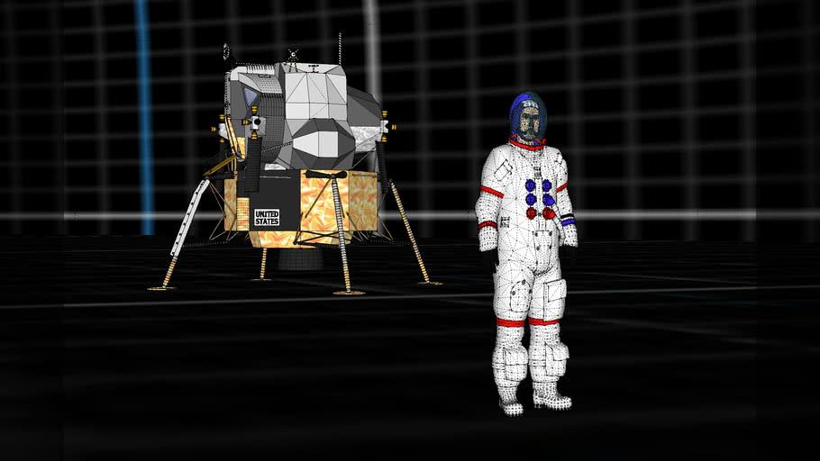 Moon landing set: grid ref