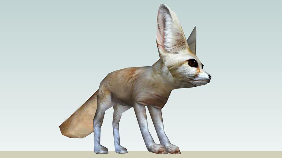 Fennec Fox Photo Textured