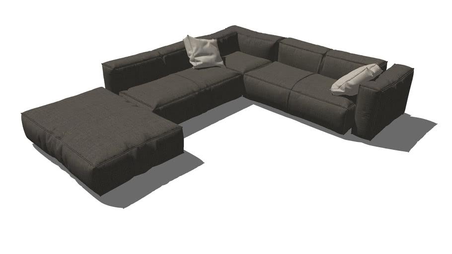Modern Style L Shape Sofa Component
