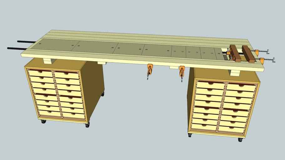 Rolling ShopBox Table