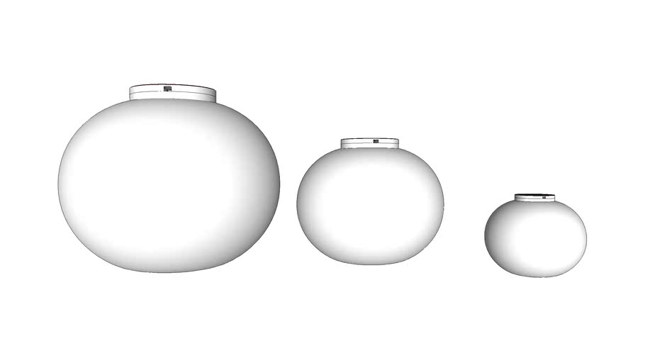 Flos Glo Ball Ceiling Fixture