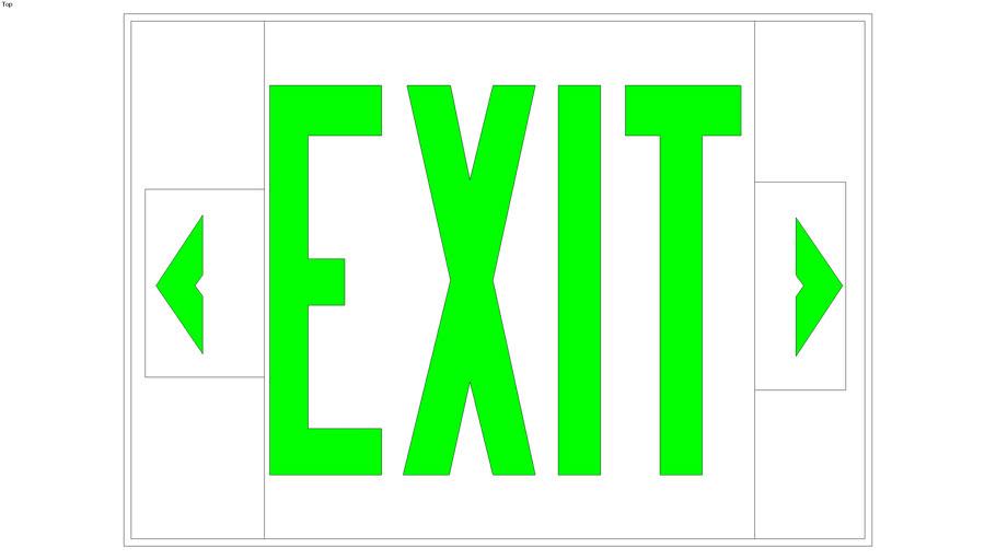 Nicko Vintage Exit Sign