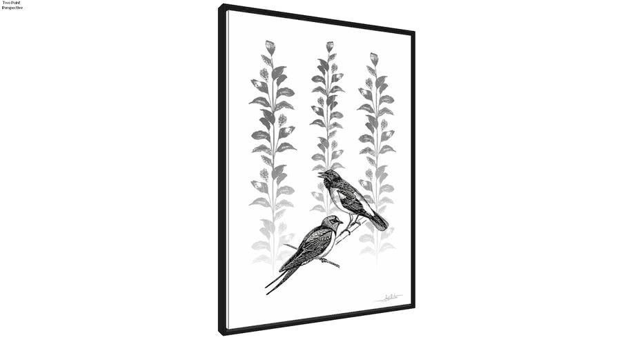 Quadro Silk Birds IV